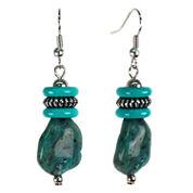 Aris by Treska Blue Beaded Silver-Tone Earrings