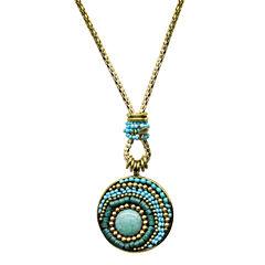 Aris by Treska Seed Bead Pendant Necklace