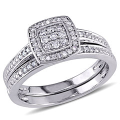 tw diamond sterling silver bridal set - Jcpenney Wedding Rings