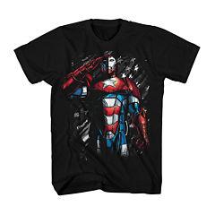 Marvel® Short-Sleeve Iron Patriot Cotton Tee
