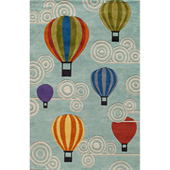 Momeni Lil Mo Hot Air Balloons Hand Tufted Rectangular Rugs