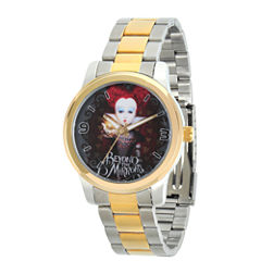 Disney® Womens Alice In Wonderland Two Tone Red Queen Bracelet Watch