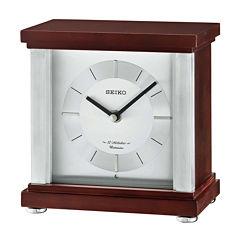 Seiko® Contemporary Classics Desk Clock Brown Qxw441blh
