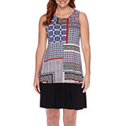 Tiana B. Sleeveless Patchwork Fit and Flare Dress - Petite