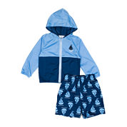 Wippette 2-pc. Sailboat Swim Trunk Set - Baby Boys newborn-24m