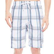 U.S. Polo Assn.® Basic Plaid Cargo Swim Shorts