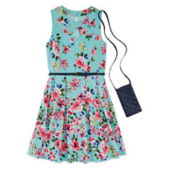 Knit Works Belted Floral Dress - Girls' 7-16