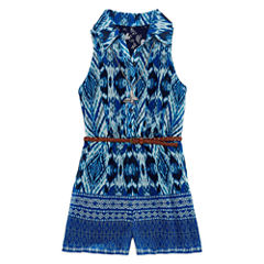 Knit Works Belted Romper with Necklace - Girls' 7-16