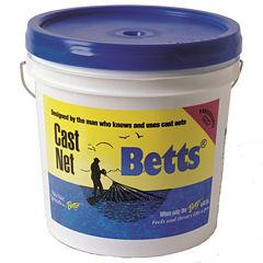 Betts Mullet Cast Net 10ft 1in Mesh Bucket
