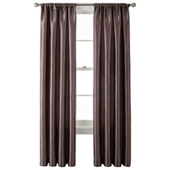 Liz Claiborne® Gallery Taffeta Rod-Pocket Curtain Panel