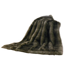 HiEnd Accent Chinchilla Faux Fur Throw