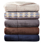 JCPenney Home™ Faux Ultra Mink to Sherpa Throw