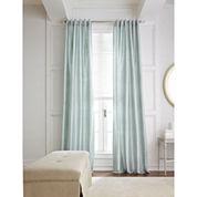 Royal Velvet® Silk Pinstripe Back-Tab Curtain Panel