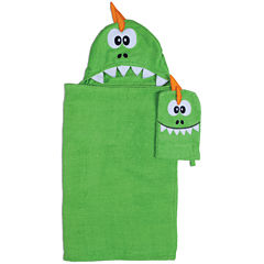 Dinosaur Hooded Towel and Wash Mitt Set