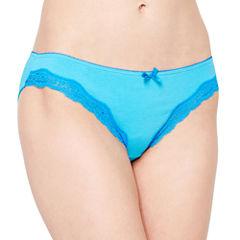 Ambrielle® Cotton Lace Bikini