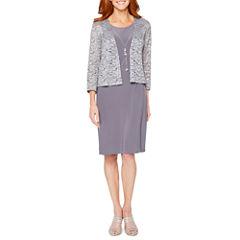 Onyx Nites 3/4 Sleeve Jacket Dress