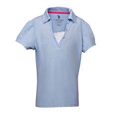 U.S. Polo Assn. Short Sleeve Polo Shirt - Big Kid Girls
