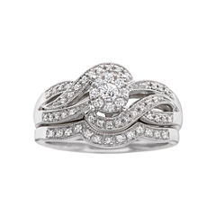 I Said Yes!™ 1/3 CT. T.W. Certified Diamond Wave Bridal Ring Set