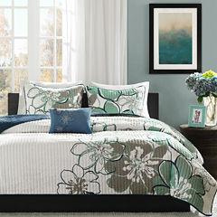 Mi Zone Skylar Floral Quilt Set