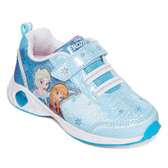 Disney Frozen Girls Light-Up Fashion Sneakers - Toddler