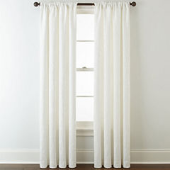 JCPenney Home™ Quinn Leaf Rod-Pocket Curtain Panel