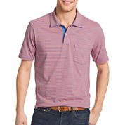 IZOD® Short-Sleeve Striped Pocket Polo Shirt
