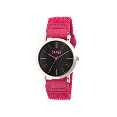 Crayo Unisex Symphony Pink Nylon-Band Watch Cracr2706