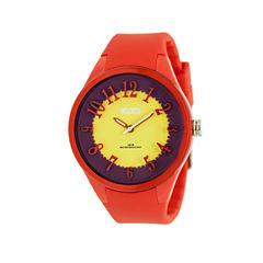 Crayo Womens  Burst Red Strap Watch Cracr3201