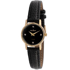 Peugeot Womens Black Strap Watch-3050bk