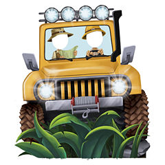 BuySeasons Jungle Party Jeep Standee Party Prop -4.5' Tall