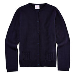 IZOD® Cable Pocket Cardigan - Girls 7-18 and Plus