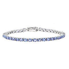 LIMITED QUANTITIES Genuine Oval Tanzanite Sterling Silver Bracelet