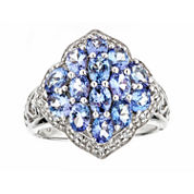 LIMITED QUANTITIES Genuine Tanzanite Sterling Silver Ring