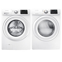 Samsung 4.2 cu. Ft Front Load Washer and 7.5 Cu. Ft. Dryer Bundle