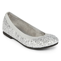 Total Girl® Sibley Girls Sparkle Flats - Little Kids
