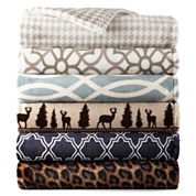 JCPenney Home Velvet Plush Print Throw