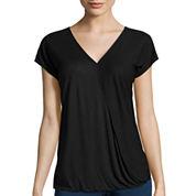 i jeans by Buffalo Short-Sleeve Drape-Front Top
