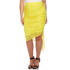 Bisou Bisou® Asymmetrical Lace Skirt - Plus