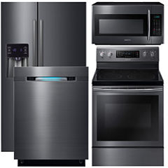 Samsung  4-pc. Electric Kitchen Package- Black Stainless Steel