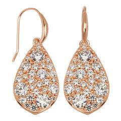 Rose-Tone Cubic Zirconia Earrings