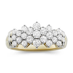 1 CT. T.W. Diamond 10K Two-Tone Gold Pyramid Ring
