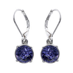 Gloria Vanderbilt® Purple Crystal Silver-Tone Drop Earrings