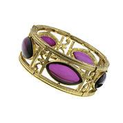 1928® Jewelry Amethyst Gold-Tone Stretch Bracelet