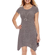 Alyx® Short-Sleeve Necklace Fit-and-Flare Dress