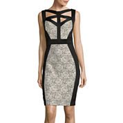 Melrose Sleeveless Cutout-Neck Sheath Dress