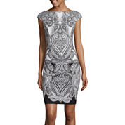 Liz Claiborne® Cap-Sleeve Paisley Sheath Dress