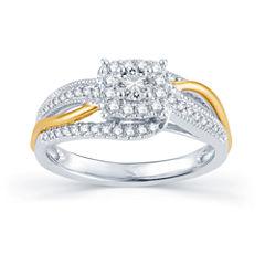 1/2 CT. T.W. Diamond 14K Tw-Tone Gold Engagement Ring