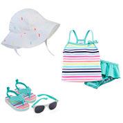 Carter's® Sunhat, Sunglasses, Sandals or Swim Set - Baby Girls newborn-24m