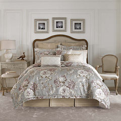 Croscill Classics® Lavender and Grey Floral 4-pc. Comforter Set & Accessories
