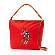 U.S. Polo Assn.® Chester Embroidered Hobo Bag